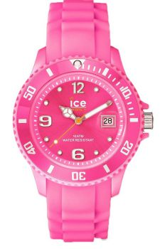 Ice Watch Unisex Medium Ice Forever Neon Pink Resin Strap Watch     001465-NEW