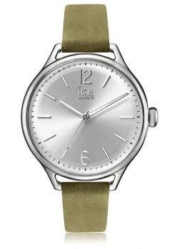 Ice Watch - Khaki Silver - Women's Wristwatch with Leather Strap  - 013057-INP