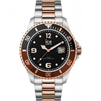Ice Watch Gents Large Ice Steel Bracelet Watch     016548-NEW