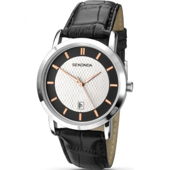 Sekonda  Gents Leather Strap Watch   1013-SNP