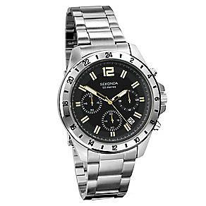 Sekonda Gents Chronograph Stainless Steel Watch     1134-SNP