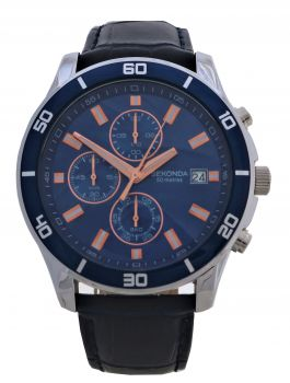 Sekonda  Gents Chronograph Leather Strap Watch  1362-NEW
