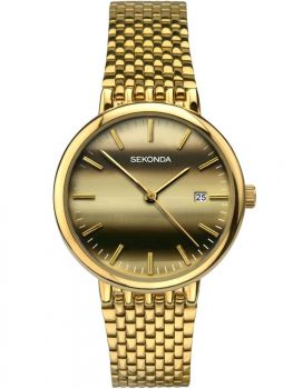 Sekonda Gents Gold Plated Watch - 1382-SNP