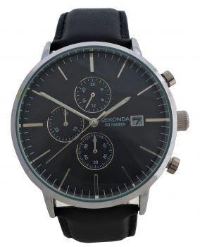 Sekonda Gents Chronograph Leather Strap Watch 1604-NEW