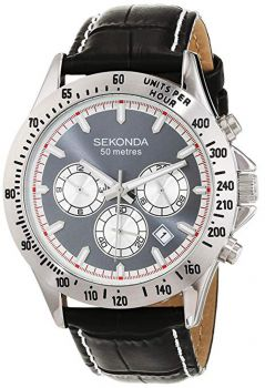 Sekonda Gents Chronograph Leather Strap Watch - 1724-NEW