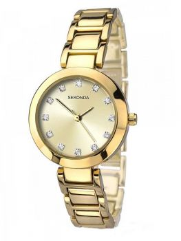 SNP  2065  Sekonda  Ladies  Swarovski Set Gold Plated Bracelet Watch