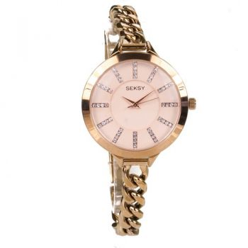 Seksy Ladies' Rose Gold Plated Watch  SNP 2073