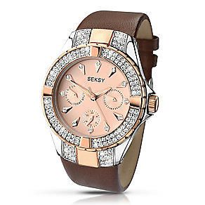 Seksy Ladies' Intense  Leather Strap Watch       2139-SNP
