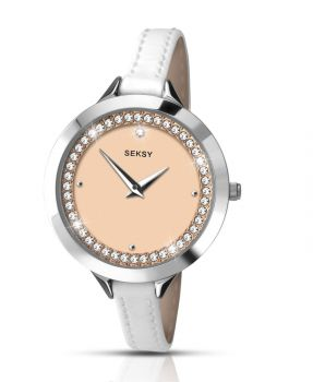 Seksy Ladies Leather Strap Watch  SNP 2155