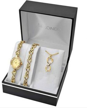 Sekonda Ladies Watch, Bracelet & Necklace Set  2208G(1)-SNP