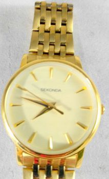 Sekonda Ladies Gold Plated Watch - 2338-SNP