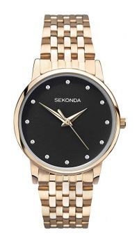 Sekonda Ladies Rose Gold Plated Watch - 2432-NEW