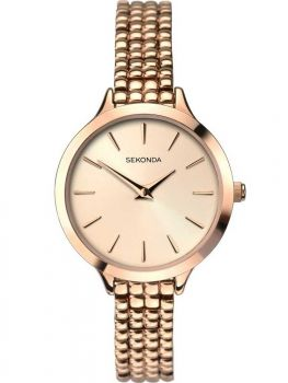 Sekonda Ladies Rose Gold Plated Watch - 2478-SNP
