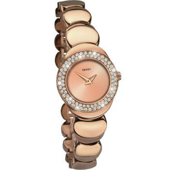 Seksy Ladies Crystal Set Rose Gold Plated Watch    2499-SNP
