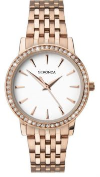 Sekonda Ladies Rose Gold Plated Watch 2516 NEW