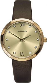 Sekonda  Ladies Leather Strap Watch   2648-SNP
