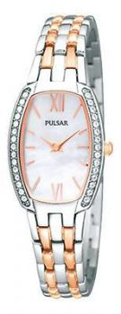 Pulsar Ladies Two Tone Swarovski Bracelet Watch  PTA493X1 PNP