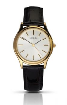 Sekonda Gents Leather Strap Watch    3956-SNP