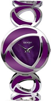 Seksy Ladies Purple Bracelet Watch    4533-SNP
