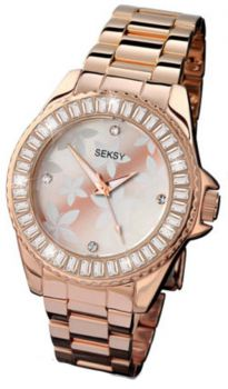 Seksy Ladies' Rose Gold Plated Watch  SNP 4655
