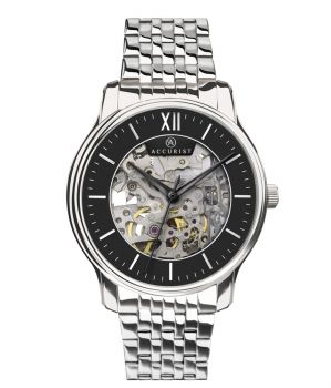 Accurist Gents Classic Skeleton Watch - 7243-NEW