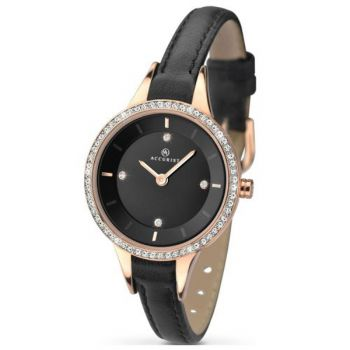 Accurist Ladies Crystal Set Watch ANP 8044