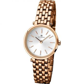 Accurist Ladies Rose Gold Plated Watch  8095-NEW