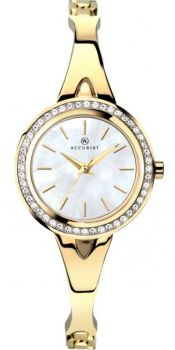 Accuriist Ladies Crystal Set Bangle Watch - 8110 NEW
