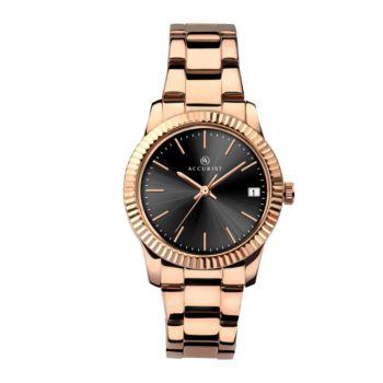 Accurist Ladies Rose Gold Plated Watch  8114-NEW
