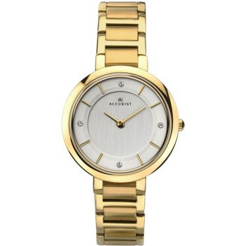 Accurist Ladies Gold Plated Watch  8151-NEW