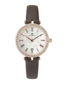 Accurist Ladies Leather Strap Watch    8227-NEW