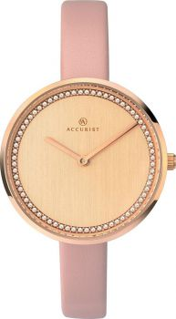 Accurist Ladies Leather Strap Watch    8232-NEW