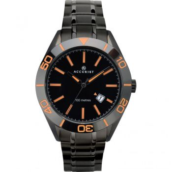 Accurist Gents Black Ion Plated Watch - 7224 ANP