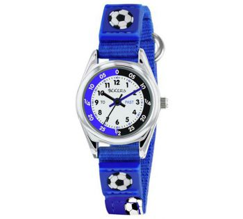 NB  Tikkers Childrens Time Teacher Watch With Rip Strap Fastener.  ATK1028-TNP