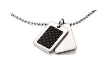 Boccia Women's Pendant Titanium Set Carbon - B0743-01-NEW