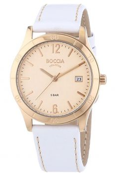 Boccia Ladies Leather Strap Watch  B3234-01 BONP