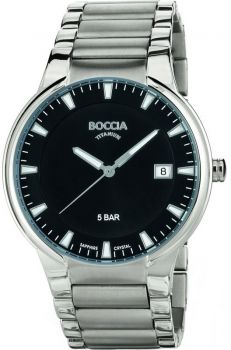 Boccia Gents Titanium Date Display Bracelet Watch B3576-01-BONP