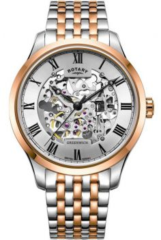 Rotary Gents Greenwich Automatic Skeleton Watch GB02944/06 NEW