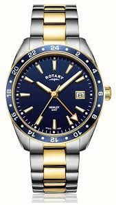 Rotary Gents Henley GMT Watch - GB05296/05-NEW
