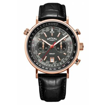 Rotary Gents Henley Chronograph Leather Strap Watch GS05237/20 NEW