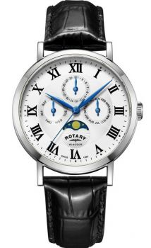 Rotary Gents Windsor Moonphase Watch  GB05325/01-NEW