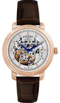 Rotary Gents Automatic Skeleton Watch GS90505/06 NEW