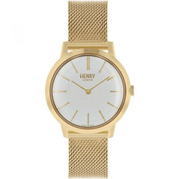 Henry London Ladies Gold Plated Watch - HL34-M-0232 HLNP