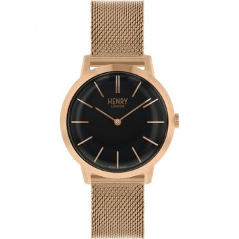 Henry London Ladies Rose Gold Plated Watch - HL34-M-0234 HLNP