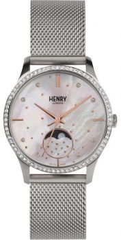 Henry London Moonphase Unisex Watch HL35-LM-0329 NEW
