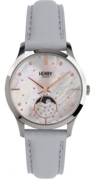 Henry London Moonphase Ladies Watch HL35-LS-0327 NEW