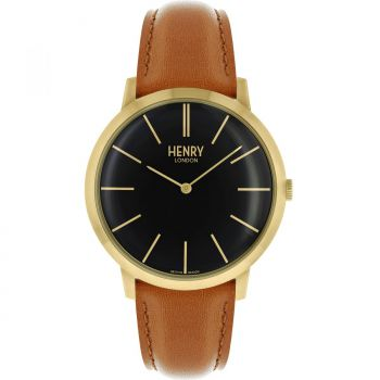 Henry London Gents Gold Plated Watch  HL40-S-0242-HLNP