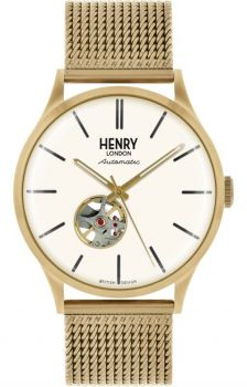 Henry London Gents Automatic Skeleton Watch - HL42-AM-0284 NEW