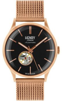 Henry London Gents Automatic Skeleton Watch - HL42-AM-0286 HLNP