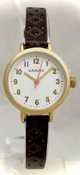 Kahuna Ladies Antique Gold Plated Watch      AKLS0386L-KHNP